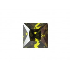 Фианит оливковый, квадрат, 5х5мм