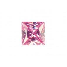 Фианит розовый, квадрат, 9х9мм