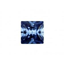 Фианит синий, квадрат, 2х2мм