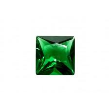 Фианит зеленый, квадрат, 5х5мм
