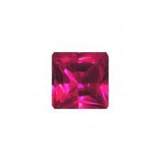 Корунд синтетический рубиновый, квадрат, 5х5мм