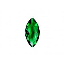 Фианит зеленый, маркиз, 4х2мм