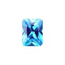 Фианит голубой, октагон, 7х5мм