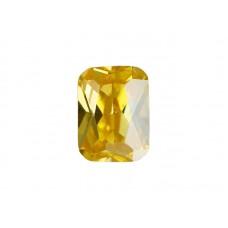 Фианит желтый, октагон, 7х5мм