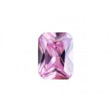 Фианит розовый, октагон, 9х7мм