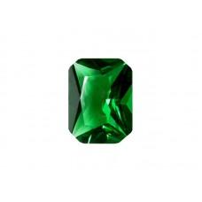 Фианит зеленый, октагон, 7х5мм