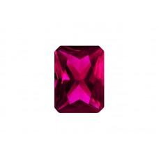 Корунд синтетический рубиновый, октагон, 7х5мм