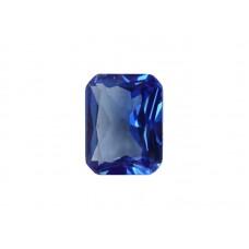 Шпинель синтетическая синяя, октагон, 13х11мм