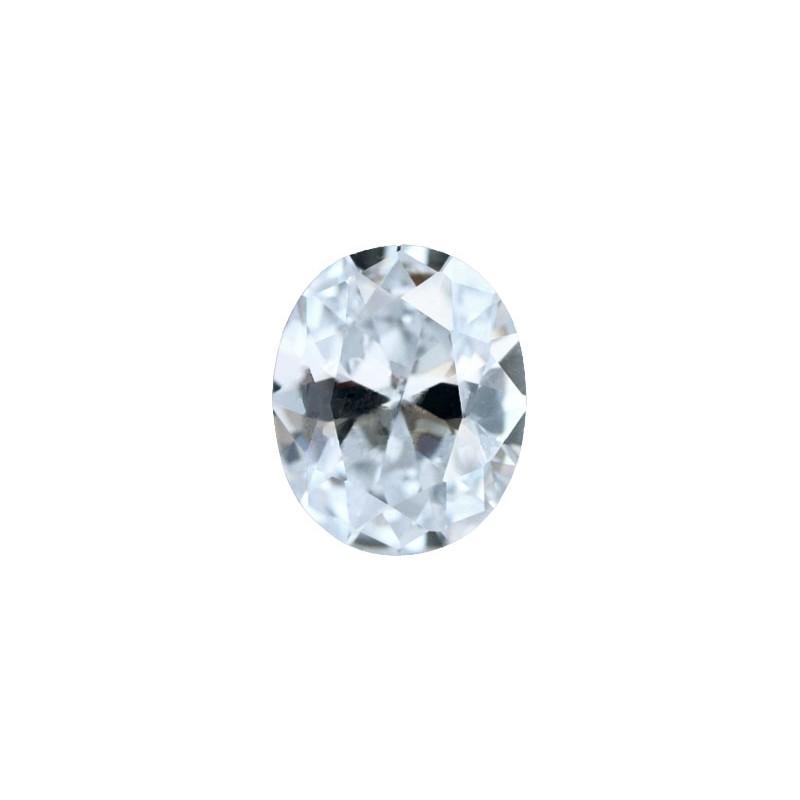 Фианит бесцветный, овал, 18х13мм