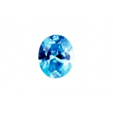 Фианит голубой, овал, 8х6мм