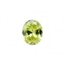 Фианит хризолитовый, овал, 27х10мм