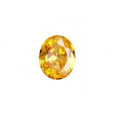 Фианит желтый, овал, 8х6мм