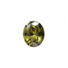 Фианит оливковый, овал, 27х10мм