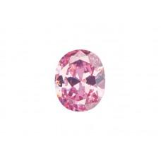 Фианит розовый, овал, 27х10мм