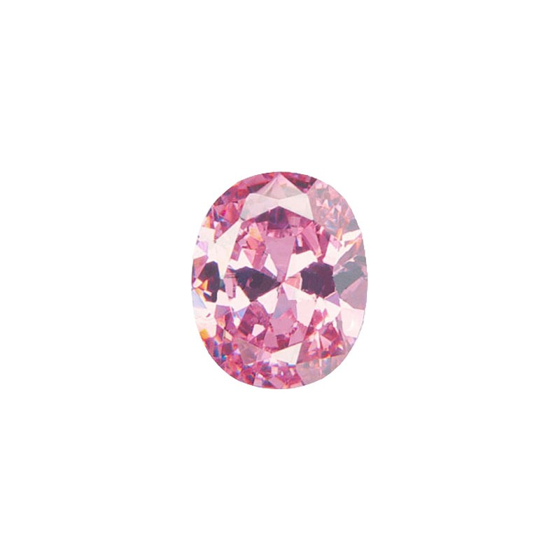 Фианит розовый, овал, 12х10мм