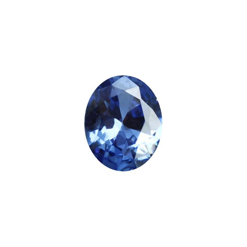 Фианит синий, овал, 7х5мм