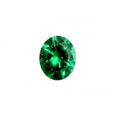Фианит зеленый, овал, 8х6мм
