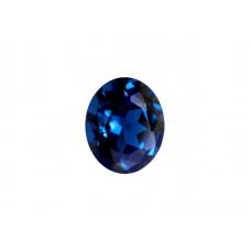 Шпинель синтетическая синяя, овал, 4х3мм