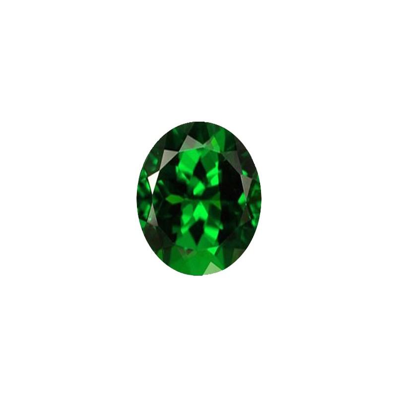 Шпинель синтетическая зеленая, овал, 10х8мм