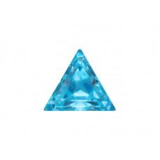 Фианит голубой, триангл, 4х4мм