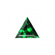 Фианит зеленый, триангл, 4х4мм