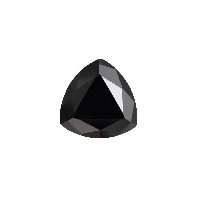 Фианит черный, триллион, 6х6мм