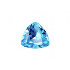 Фианит голубой, триллион, 4х4мм