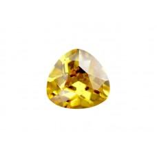 Фианит желтый, триллион, 4х4мм
