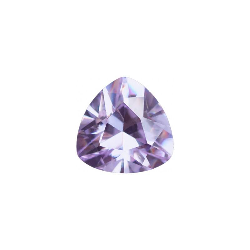 Фианит лавандовый, триллион, 7х7мм