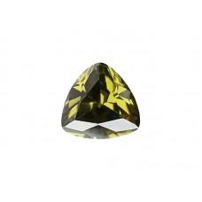 Фианит оливковый, триллион, 4х4мм