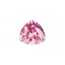 Фианит розовый, триллион, 4х4мм