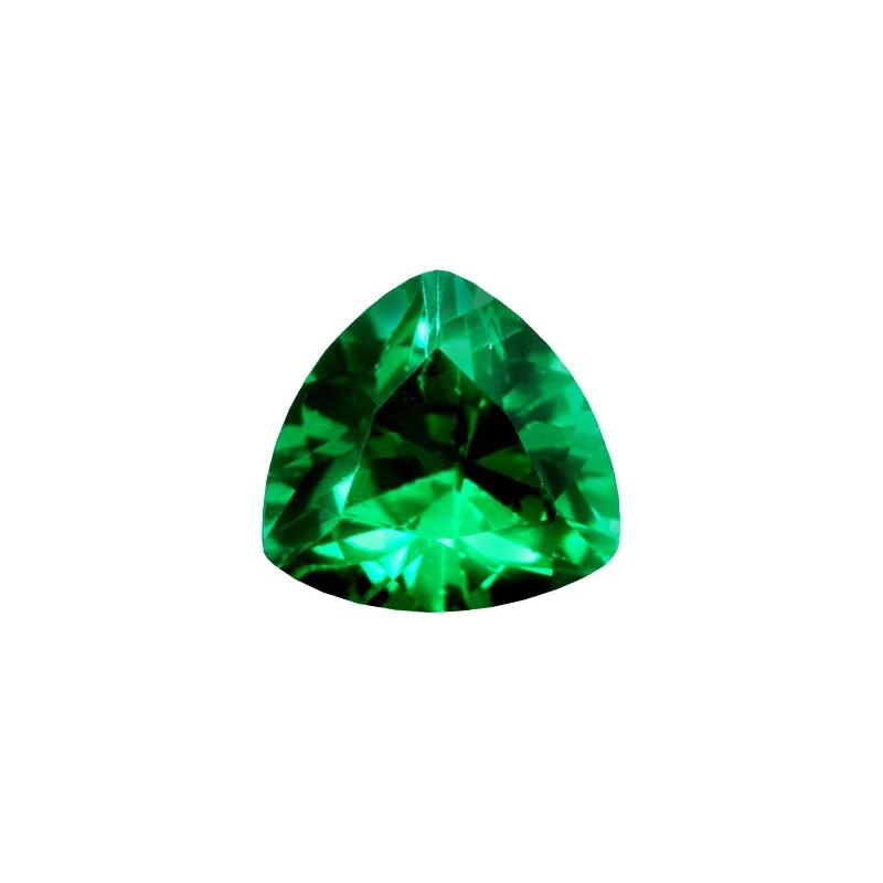 Фианит зеленый, триллион, 12х12мм