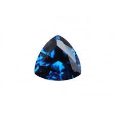 Шпинель синтетическая синяя, триллион, 9х9мм